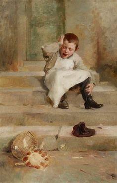 View past auction results for Henry Jules JeanGeoffroy on artnet - Le petit pâtissier