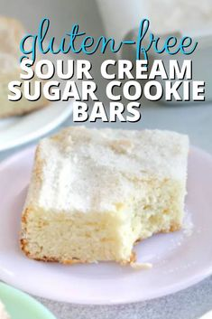 More than just sugar cookies baked into a bar, these gluten free sugar cookie bars are extra tender and moist. The crackly vanilla sugar crust takes them over the top. Best Gluten Free Cookie Recipe, Best Gluten Free Desserts, Gluten Free Sugar Cookies, Sugar Cookie Bars, Gluten Free Brownies, Sugar Free Desserts, Gluten Free Cakes, Delicious Desserts, Gf Recipes