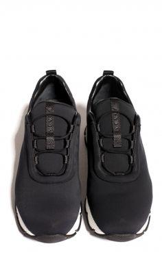 Black Neoprene Sneakers from Prada