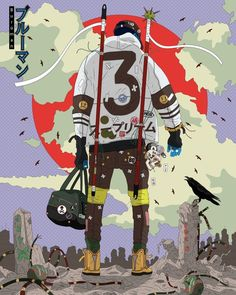 Akiresque fashion, illustration by IP Lobato. – the site of Japan Arte Dope, Dope Art, Character Concept, Character Art, Concept Art, Comic Kunst, Comic Art, Fantasy Kunst, Fantasy Art