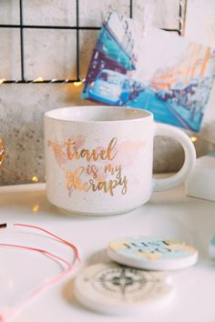 8 Wanderlust Products That Will Inspire You to Travel Before Summer is Over: Travel is my Therapy Mug