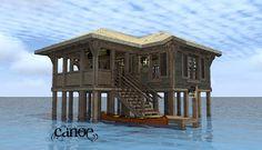 Canoe A-Frame House Plan - #ALP-09RY