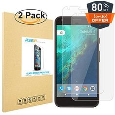 #PLESON TEMPERED GLASS SCREEN PROTECTOR for #Google Pixel 2016 Made of transparent glass that has undergone specialized tempered-glass treatment, our glass scree...