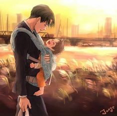 Adorable❤️❤️ || Papa!Levi & Toddler!Eren || Maybe Eren is abandoned or orphaned and Levi adopted him. Ahhhh <3