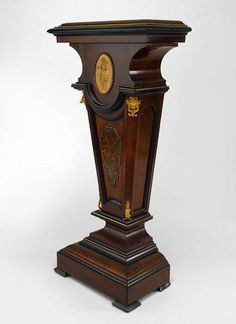 American Victorian misc. furniture pedestal rosewood