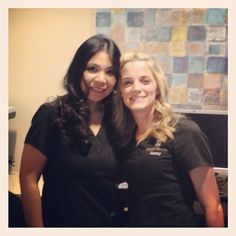 Front desk at Studio Dental - Jessica and Courtney will always greet you with a smile.