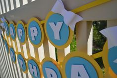 Happy Birthday Banner w/ Bows by ThePaperBowShop on Etsy, $16.00