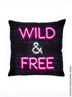 Wild and Free Pillow - #pillow #pillowcover #pillowcase #stuffedpillow #throwpillow #couchpillow #bedpillow #accentpillow #wild #free #wildfree
