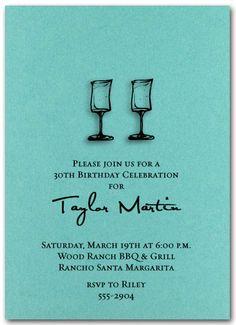 Wine glasses party invitation❣ Retirement Invitations