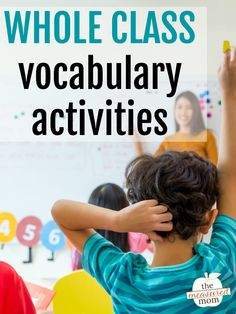 6 Whole Class Vocabulary Activities Hurray – vocabulary activities that aren't boring! These whole class vocabulary activities are great for elementary learners through fifth grade and beyond. Kindergarten Vocabulary, Academic Vocabulary, Vocabulary Activities, Class Activities, Reading Activities, Teaching Reading, Literacy, Teaching Spanish, Spanish Grammar