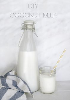 2 cups unsweetened shredded coconut or coconut flakes  4 cups water  blender  nut milk bag, cheese cloth or clean dish towel