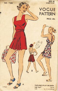 Vintage pattern Vogue 7385, playsuit