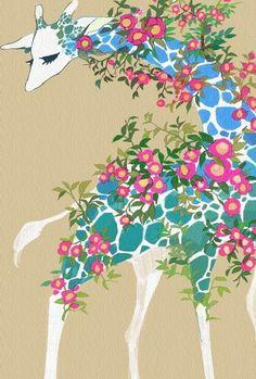Cute kawaii giraffe art