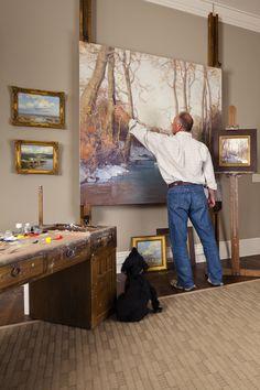 "Meet artist, Scott Christensen, a sponsor of the ""You be the Judge"" art contest, by professional portrait painter, Brian Neher. Home Art Studios, Art Studio At Home, Studio Studio, Dream Studio, Studio Ideas, Art Studio Design, Art Studio Organization, Art Easel, Painting Studio"