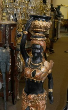 blackamoor | Photo of Pair Italian Blackamoor Torcheres Statues Moors