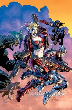 Suicide Squad #2 by Jim Lee, inks by Scott Williams, colours by Alex Sinclair *