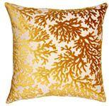 Saffron Coral Decorative Pillow