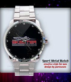 New Rare Skeeter Fishing Boat Logo Sport Metal Watch