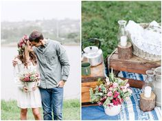 www.vanillaphotography.co.za - Styled engagement shoot, flower crown, flower, picnic