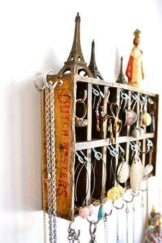 Jewelry display vintage wooden cigar box  sc 1 st  Pinterest & Jewelry Storage. $29.00 via Etsy. | Organization | Pinterest ...