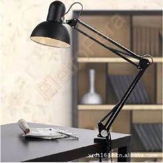 Luminária De Mesa Articulada Uso Fixo Em Parede Ou Garra - R$ 179,90