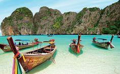 Viagens de sonho a menos de US$ 60 (50euros) por dia Maya Bay, em Koh Phi Phi, na Tailândia