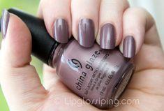 China Glaze Channelesque (dusty purple nail polish)