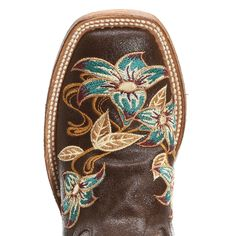 Macie Bean brown floral boots.