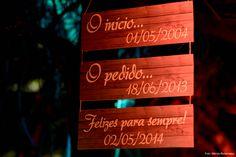 Placas casamento