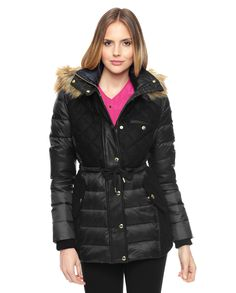 New Look Petite Padded Jacket with Faux Collar | Stuff to Buy ...