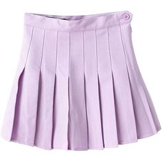 Pleated High-rise Tennis Skirt (€27) ❤ liked on Polyvore featuring skirts, bottoms, purple, clothes - skirts, high waisted knee length skirt, pleated skirt, high rise skirts, purple skirt and high waisted skirts