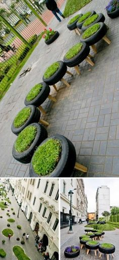 Recycling Car Wheels in Peru