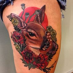 #tattoo#tattoos#portlandtattoo#portlandtattoos#fawntattoo#poppytattoo#naturetattoo#pdxart