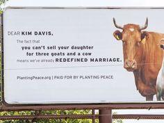 Planting Peace billboard  Fucking thank you.