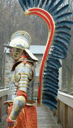Reenactor wearing the armor of a Polish winged Hussar. Medieval World, Medieval Armor, Larp, Dark Ages, Fiction, Drawings, Painting, Empire Strikes, Crusaders