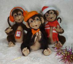 Купить Друзья - коричневый, обезьянка, обезьянка в подарок, обезьяна, символ года, символ 2016 года