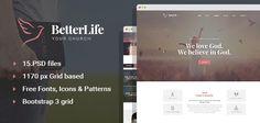 BetterLife – Church Religious PSD template