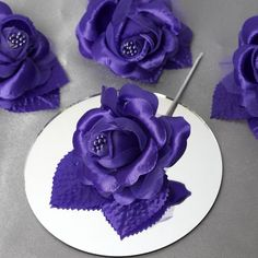 Balsacircle 12 open roses craft flowers - mini flowers for diy wedding party favors decorations supplies Satin Ribbon Roses, Satin Flowers, Purple Flowers, Rose Crafts, Flower Crafts, Craft Flowers, Purple Wedding Decorations, Artificial Flowers And Plants