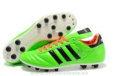 2014 Football Boots Green Black White 2014 Brazil World Cup Adidas Copa Mundial FG
