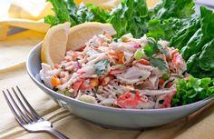 Refreshingly Light Get-In-My-Bikini Crab Salad via @artfulgourmet   http://theartfulgourmet.com/2012/05/21/refreshingly-light-get-in-my-bikini-crab-salad/