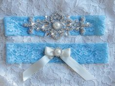 A personal favorite from my Etsy shop https://www.etsy.com/listing/479357062/blue-lace-garter-something-blue-garter