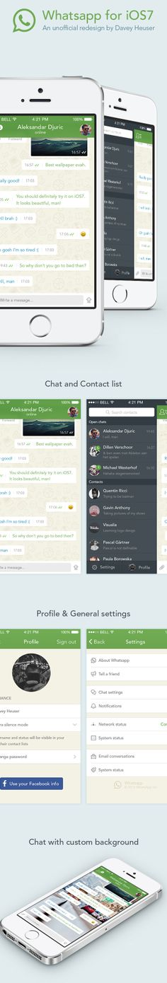 This WhatsApp Redesign Shows How iOS 7 Apps Should Be Done