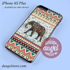 Aztec Elephant Vintage Floral Phone case for iPhone 6S Plus and another iPhone devices
