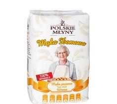 Mąka pszenna domowa typ 450 to najbardziej tradycyjna i wykwintna ze wszystkich mąk pochodzących z młyna w Szymanowie. Każda pani domu lubująca się w słodkich wypiekach powinna mieć ją w swojej kuchni. Jest to mąka wyjątkowo jasna, o niskiej zawartości substancji mineralnych. Charakteryzuje się konsystencją gwarantującą puszystość wypieku. Babcia Szymanowska wykorzystuje ją do przygotowania domowych wypieków – tortów i biszkoptów.