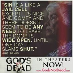 I believe it but do you this is a true and important thing because it is true. The movie is good any of you who have this go and see the movie trust me it is a good movie! Christian Movies, Christian Life, Christian Quotes, Movie Quotes, Bible Quotes, Bible Verses, Scriptures, Sinner Quotes, Gospel Quotes