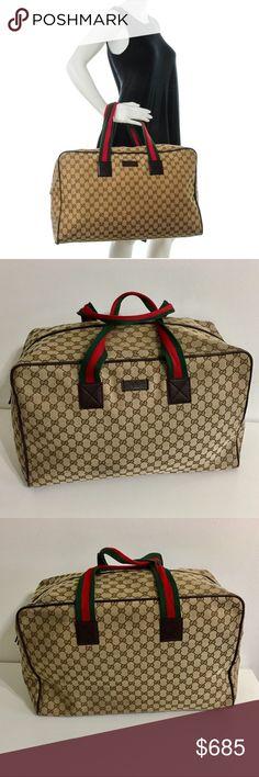 845d525e50b Authentic unisex large GUCCI monogram travel bag Authentic GUCCI Jumbo  Unisex Travel weekender bag.