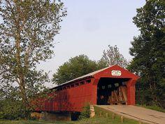 Eldean covered bridge outside Troy Ohio.