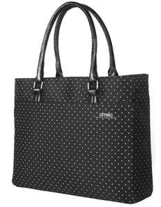 Laptop Tote Bag, DTBG Inch Women Shoulder Bag Nylon Briefcase Casual Handbag Laptop Case For 15 - Inch Tablet / Ultra-book / Macbook / Chromebook (Black+Pink Dot) Nylons, Laptop Tote Bag, Laptop Bag For Women, Laptop Shoulder Bag, Best Laptops, Nylon Bag, Casual Bags, Womens Tote Bags, Bag Accessories