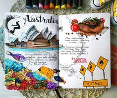 ✅Австралия для #скетчмарафон_скетчмаркер. Итак, еще раз убедилась, что  люблю рисовать еду- она как-то лучше всего получается  #sketchmarkersclub #скетчбук #скетчинг #leuchtturm1917 #markers #art_markers  #sketch #sketchbook #art #sketching#австралия #стейк #рыбки