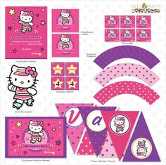 Skating Hello Kitty  Birthday Party Collection  by letspartyshop